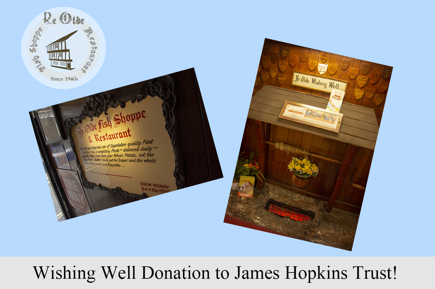 Wishing Well Donation to James Hopkins Trust!